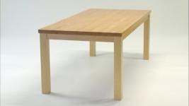 Standart kiinteäkantinen ruokapöytä