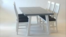 Kasper ruokapöytä ja Celine tuolit
