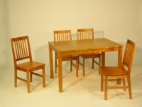 Kontio kiinteäkantinen pöytä 120x82 ja Koitere tuolit